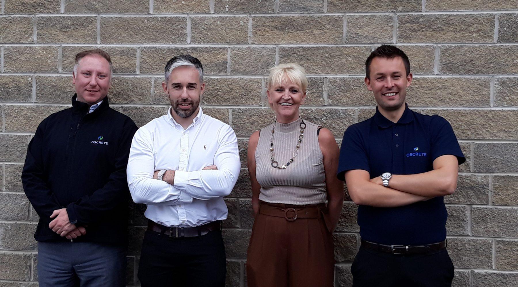 Oscrete sales team celebrate qualifications success