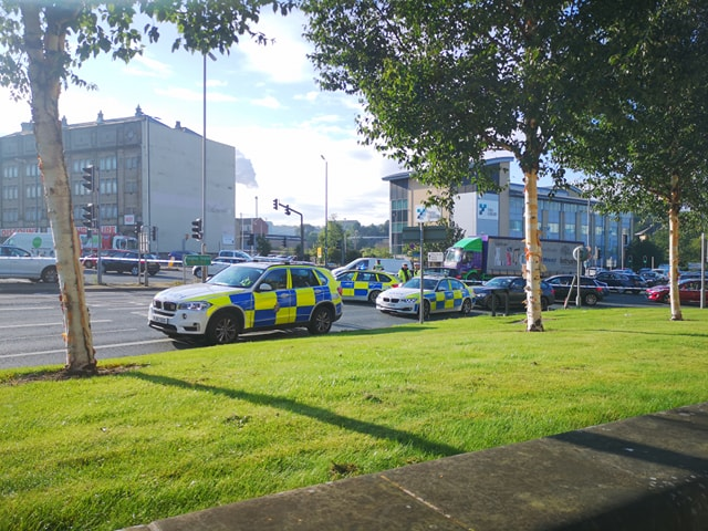 City centre road reopens after person is taken…