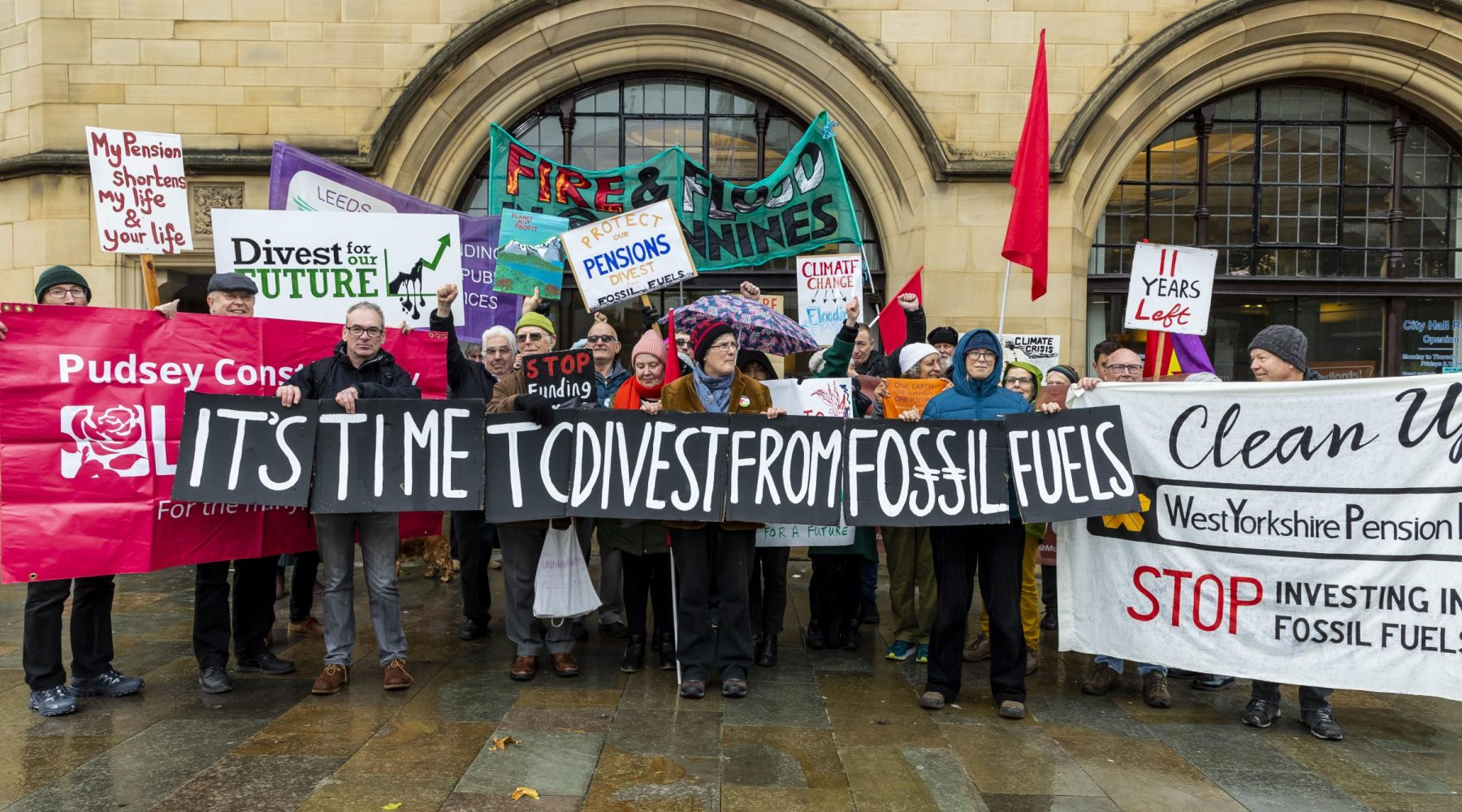 Protesters in Bradford call for West Yorkshire Pension…