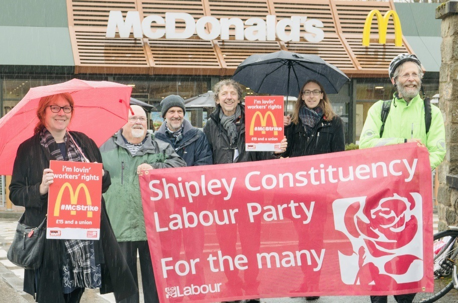 McDonald's strike: Backing for Shipley workers