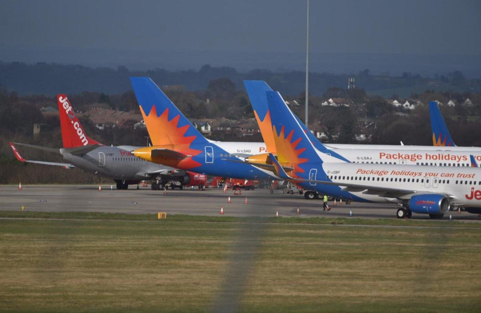 Leeds Bradford Airport flights near zero