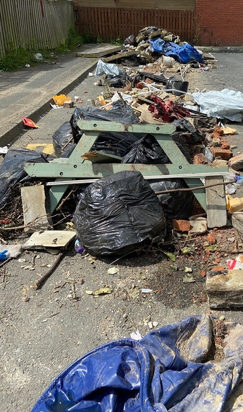 PHOTOS: Huge pile of rubbish dumped on Bradford…