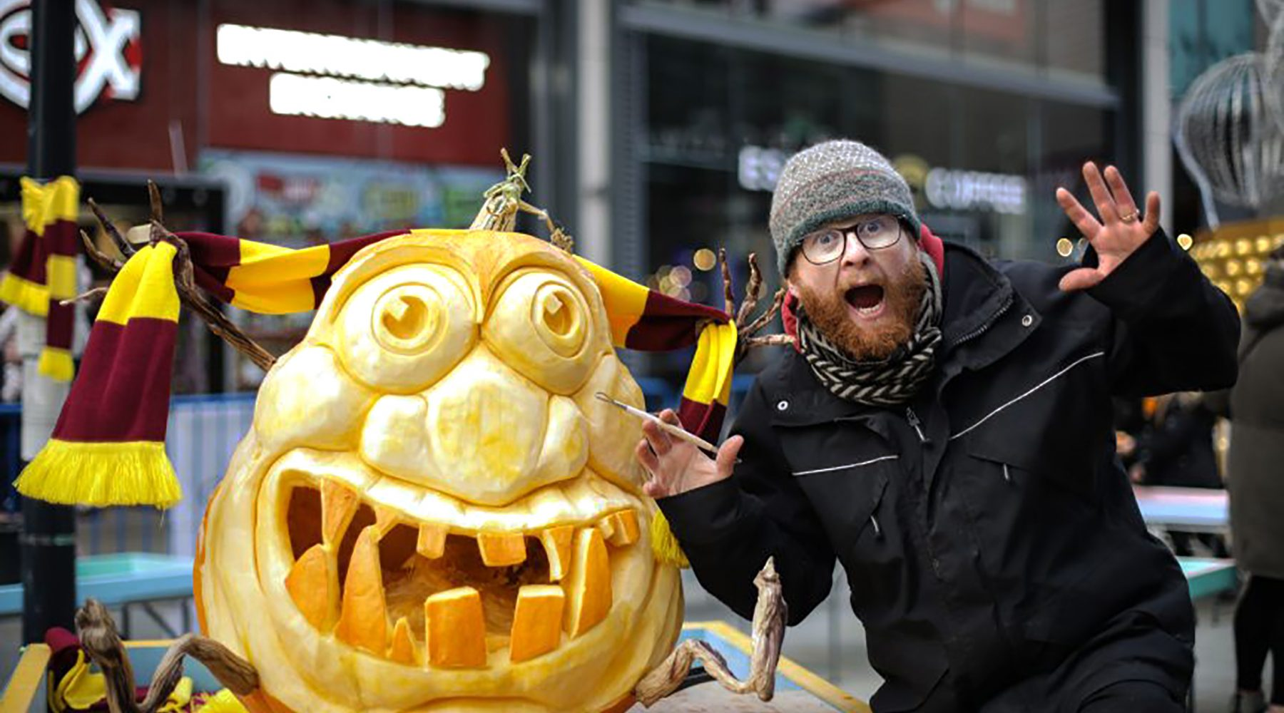 Pumpkins brought to life in Bradford city centre…