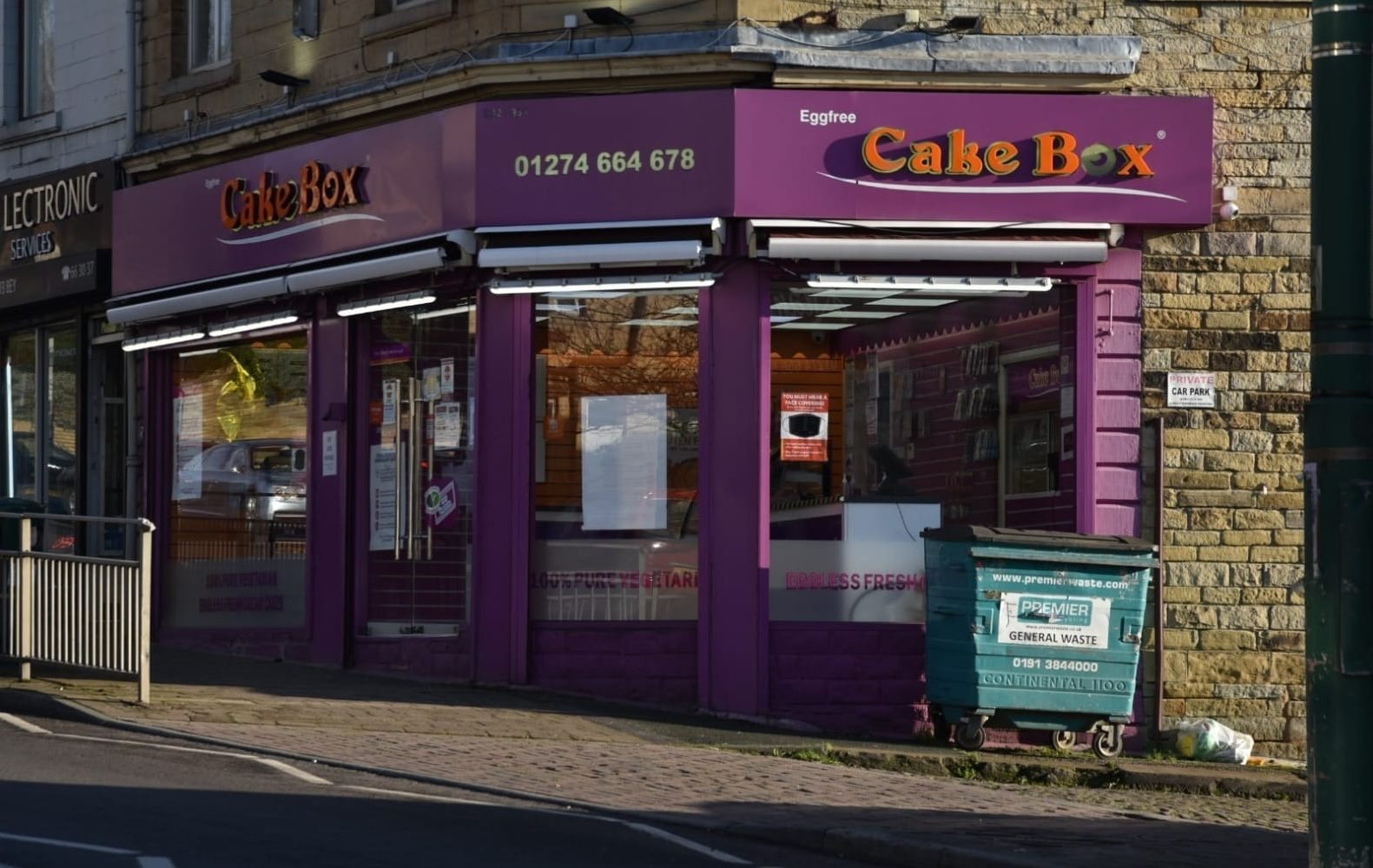 Cake Box, with Bradford shops and production site,…