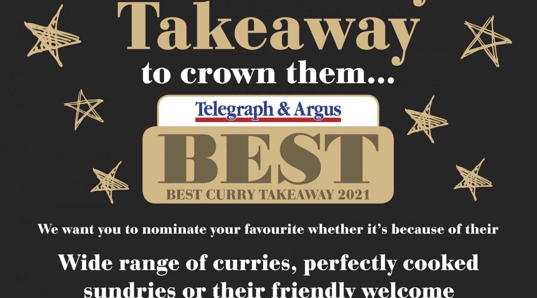 Who has the best curry takeaway in the…
