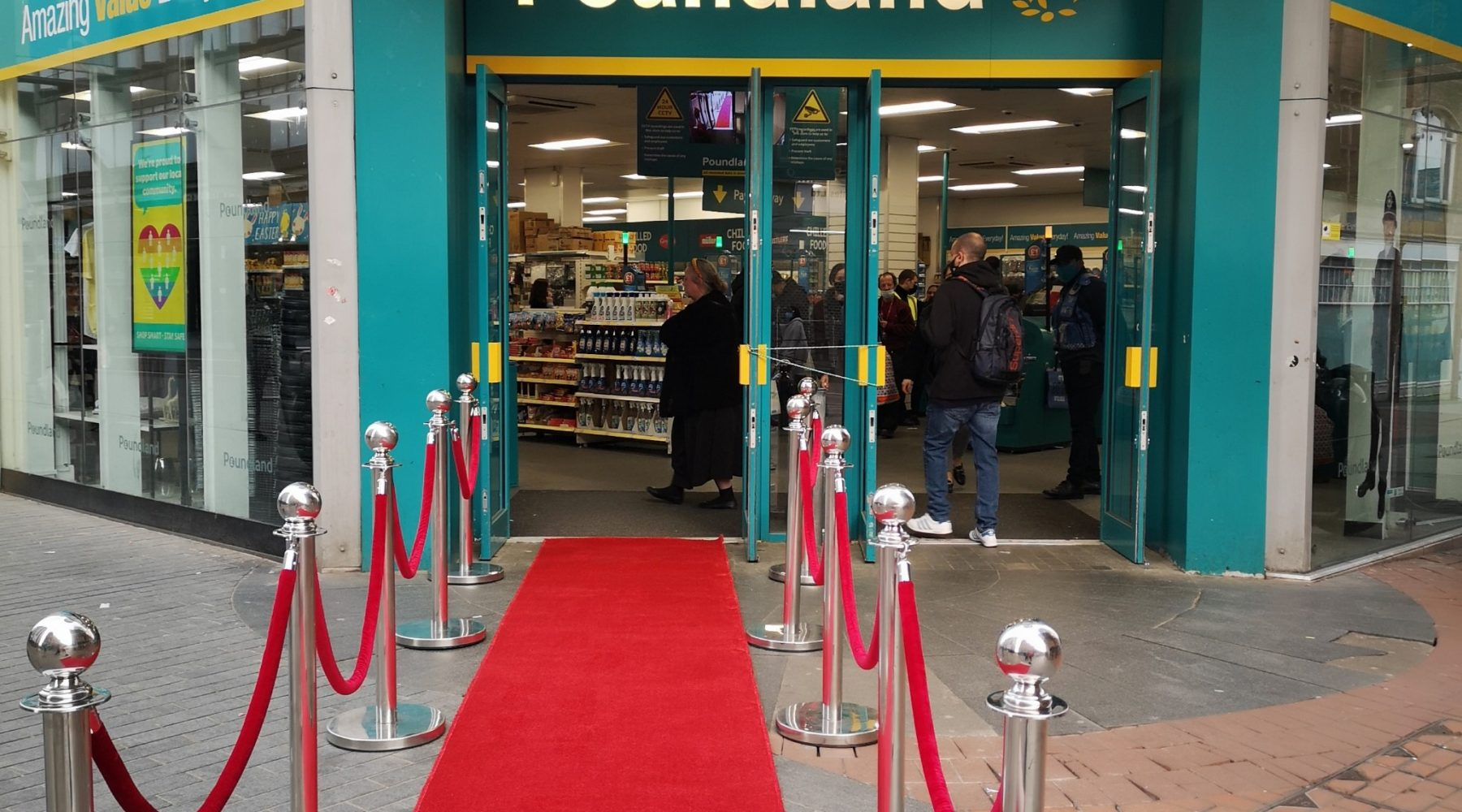 Poundland rolling out the red carpet as 55…